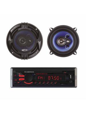 Pack Radio Lecteur MP3 pour voiture PNI Clementine 8440 4x45w + Haut-parleurs coaxiaux pour voiture PNI HiFi650, 120W