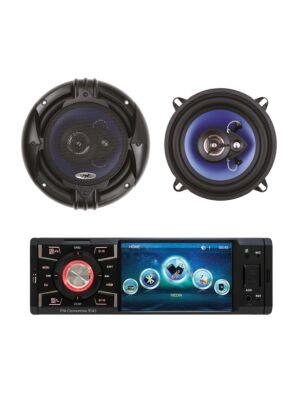 Pack lecteur de voiture MP5 PNI Clementine 9545 + haut-parleurs coaxiaux pour voiture PNI HiFi500, 100W, 12,7 cm