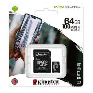 Carte mémoire MicroSD Canvas Select Plus, 64 Go, 100 Mo / s, avec adaptateur